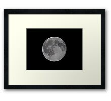 Silver moon Framed Print