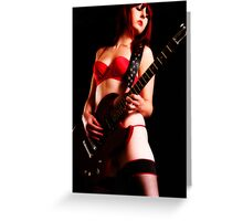Red Rock (Playing in Lingerie) Greeting Card