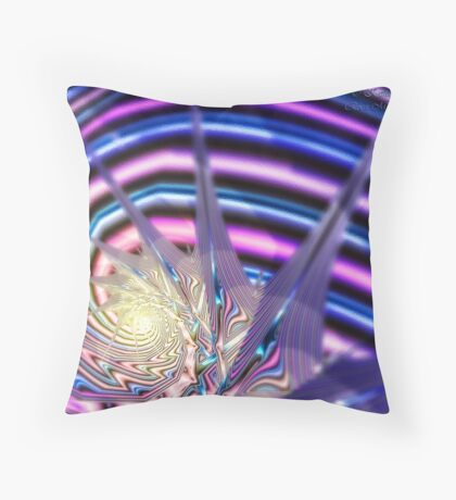 Living in the Eye of the Storm Throw Pillow