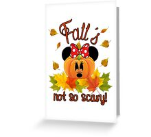 Mickey and Minnie say Fall is Not So Scary Greeting Card