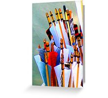 Nocking the arrows Greeting Card