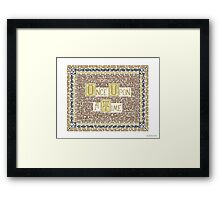 Wisdom of Once Upon A Time Framed Print