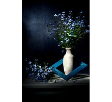 Framed Forget-me-nots Still life Photographic Print