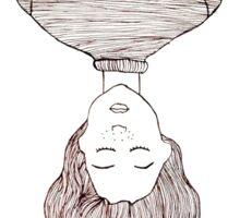 Upside Down Girl Sticker