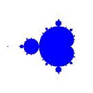 Solid Blue on White Mandelbrot by Rupert  Russell
