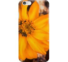 Rusty Golden Yellow Flower iPhone Case/Skin