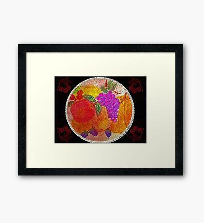 Fruit Pie Still Life Framed Print
