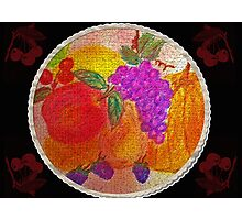 Fruit Pie Still Life Photographic Print