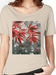 Japanese Red Maple Leaves  Women's Relaxed Fit T-Shirt