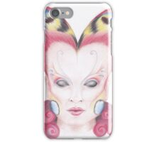 Peacock Butterfly Girl iPhone Case/Skin