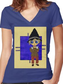 Which Way to Happiness? Women's Fitted V-Neck T-Shirt