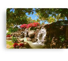 Waikiki waterfall, Honolulu Canvas Print