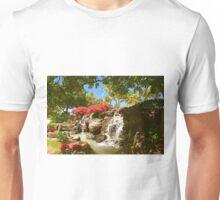 Waikiki waterfall, Honolulu Unisex T-Shirt