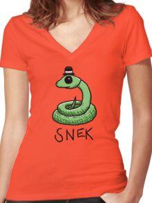 Snek Women's Fitted V-Neck T-Shirt