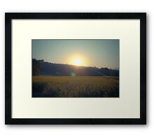 Stolen Sunrise Framed Print