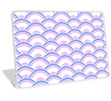 Blue, Pink, and White Scallop V2 Laptop Skin