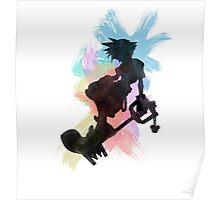Kingdom Hearts: Watercolor Sora Poster