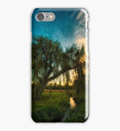Weeping Willow Tree Sunset iPhone Case/Skin