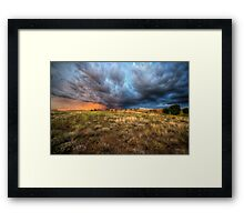 Storm Field Framed Print