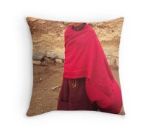 Young Buddhist monk Throw Pillow