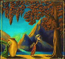 Magical Study in Maxfield Parrish by Timothy Gunnison