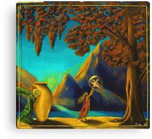 Magical Study in Maxfield Parrish Canvas Print