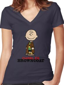 Charlie Browncoat Women's Fitted V-Neck T-Shirt
