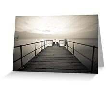 Across the Jetty Greeting Card