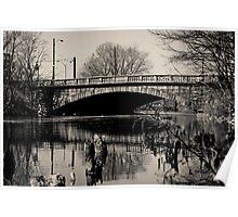 The Galen Street Bridge Watertown Massachusetts Poster