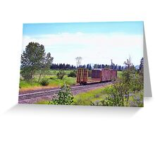 Spur Tracks Greeting Card