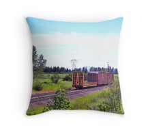 Spur Tracks Throw Pillow