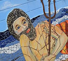 King Neptune Semaphore (Mosaic) by Scott Schrapel