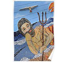 King Neptune Semaphore (Mosaic) Poster
