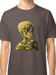 "Vincent Van Gogh - ""Skull of a Skeleton with Burning Cigarette"" Classic T-Shirt"