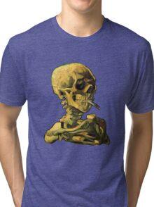 """Vincent Van Gogh - """"Skull of a Skeleton with Burning Cigarette"""" Tri-blend T-Shirt"""