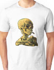 """Vincent Van Gogh - """"Skull of a Skeleton with Burning Cigarette"""" Unisex T-Shirt"""