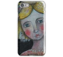 lady with flying thoughts iPhone Case/Skin