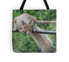 You think hanging up here is easy? Tote Bag
