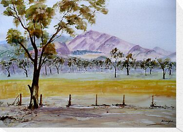 Grampians Watercolour by Kay Cunningham