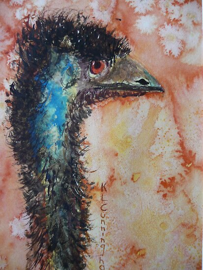 Emu - Touch of Blue by Kay Cunningham