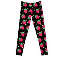 Black Strawberry Celestial Leggings
