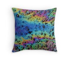 Oil Abstract Throw Pillow
