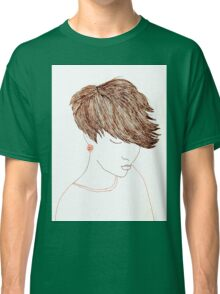Girl with Short Hair Classic T-Shirt