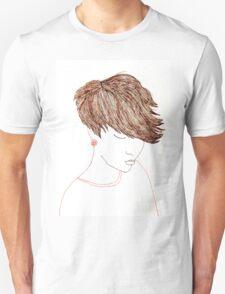 Girl with Short Hair Unisex T-Shirt