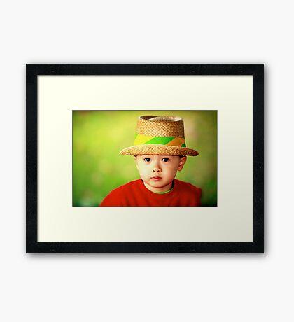 Smart Son Framed Print