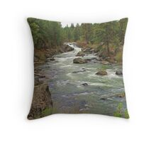 The Deschutes River Throw Pillow