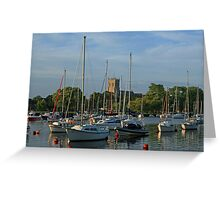 Summer Evening on the Stour Greeting Card