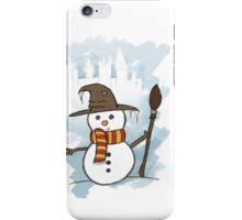Gryffindor Christmas Card  iPhone Case/Skin