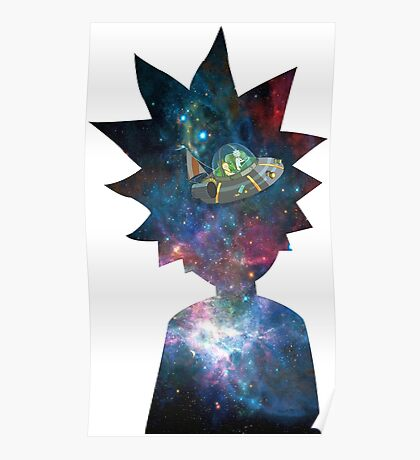 Rick and Morty Space Ship Poster