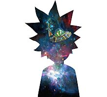 Rick and Morty Space Ship Photographic Print